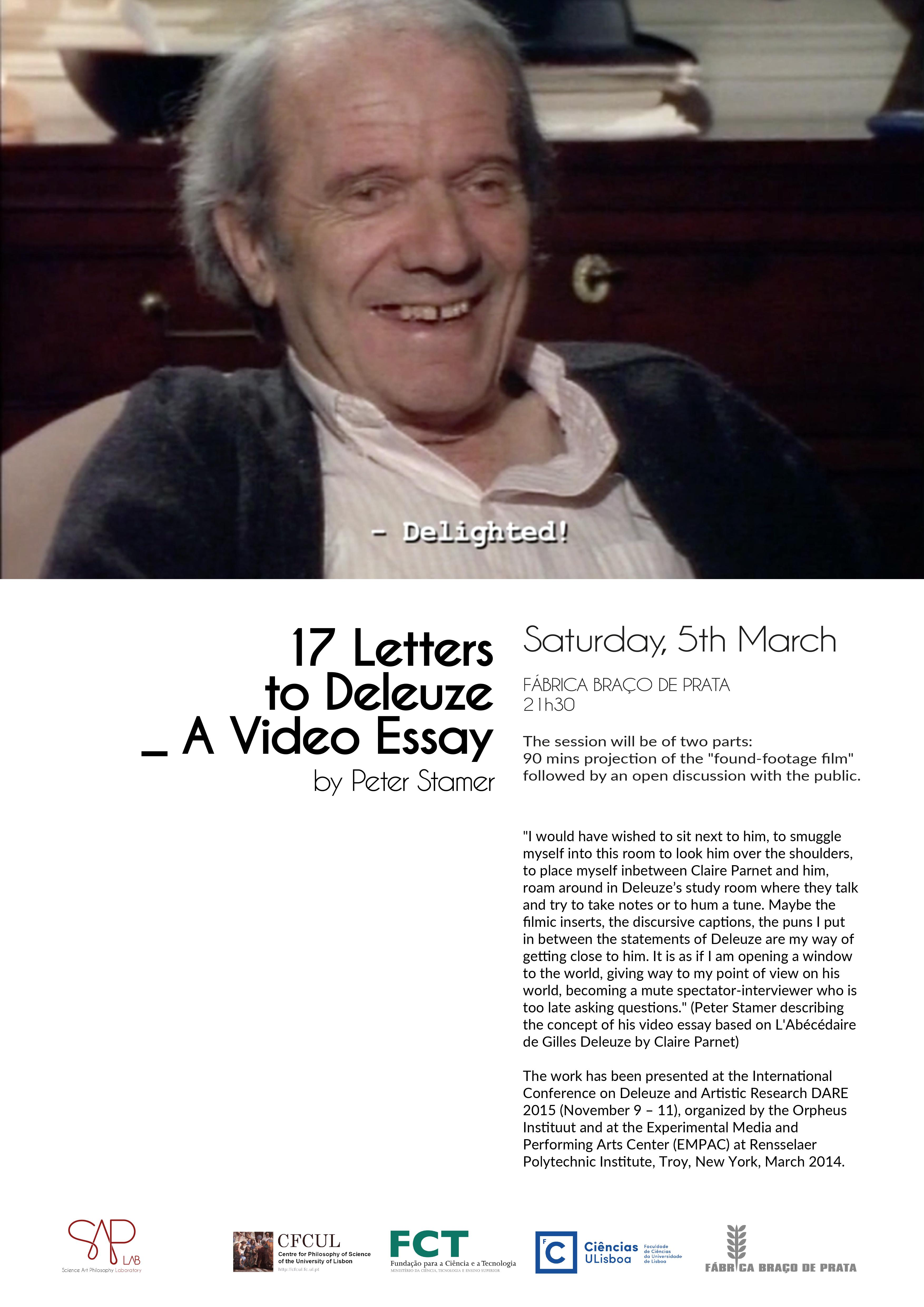 17letters to Deleuze